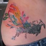 тату павлин на бедре - примеры готовых тату в фотографиях 01022016 2