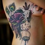 тату перо на ребрах - фотография с примером татуировки от 03022016 10