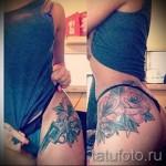 тату пистолет на бедре - примеры готовых тату в фотографиях 01022016 4
