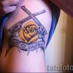 тату пистолет на ребрах - фотография с примером татуировки от 03022016 1