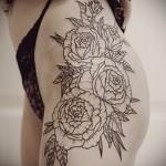 тату розы на бедре - примеры готовых тату в фотографиях 01022016 001