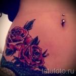 тату розы на бедре - примеры готовых тату в фотографиях 01022016 007