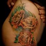 тату розы на бедре - примеры готовых тату в фотографиях 01022016 013