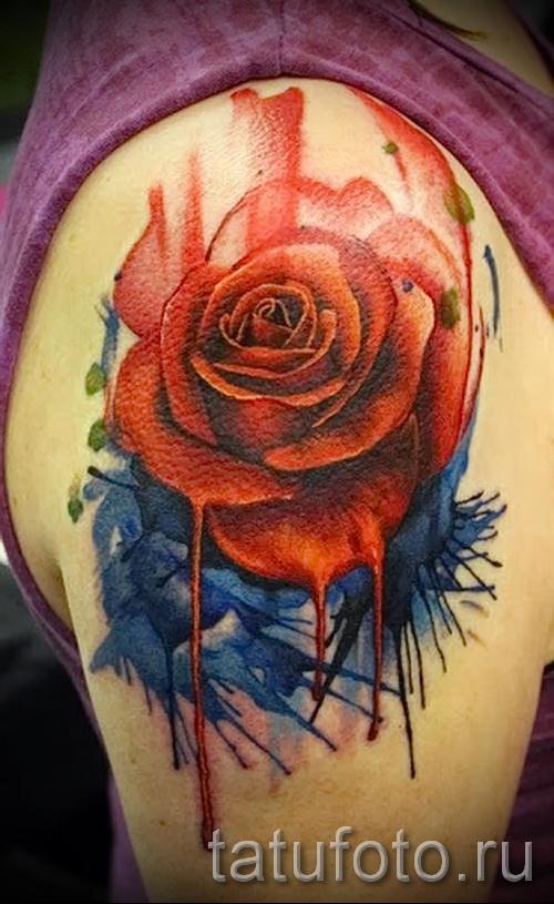 тату розы на бедре - примеры готовых тату в фотографиях 01022016 015