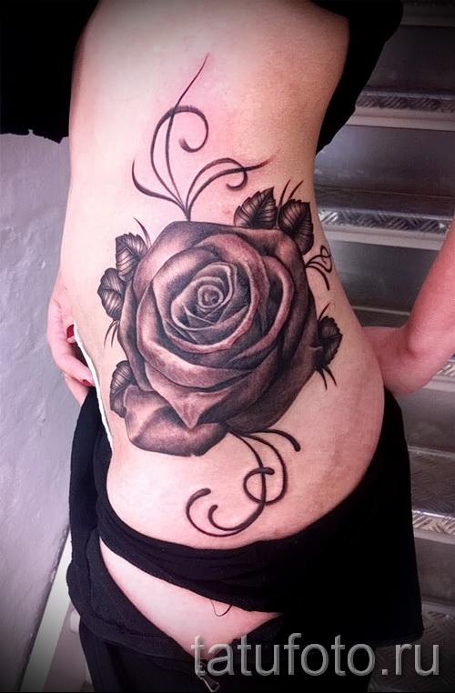 тату розы на бедре - примеры готовых тату в фотографиях 01022016 016