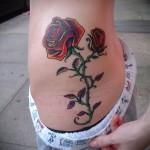 тату розы на бедре - примеры готовых тату в фотографиях 01022016 019