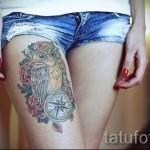 тату совы на бедре - примеры готовых тату в фотографиях 01022016 3