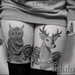 тату совы на бедре - примеры готовых тату в фотографиях 01022016 5