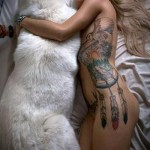 тату совы на ребрах - фотография с примером татуировки от 03022016 1