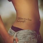 тату текст на ребрах - фотография с примером татуировки от 03022016 2