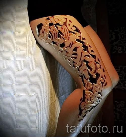 тату узоры на ноге для девушек - фото пример для выбора от 28022016 2