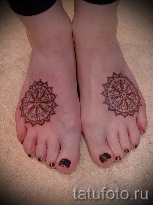 тату узоры на ноге - фото пример для выбора от 28022016 13