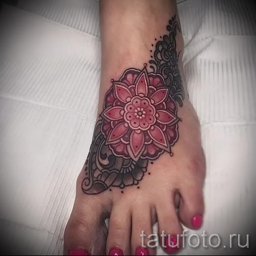 тату узоры на ноге - фото пример для выбора от 28022016 4