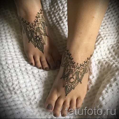 тату узоры на ноге - фото пример для выбора от 28022016 7