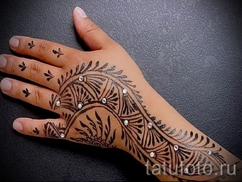 тату узоры на руке для девушек - фото пример для выбора от 28022016 5