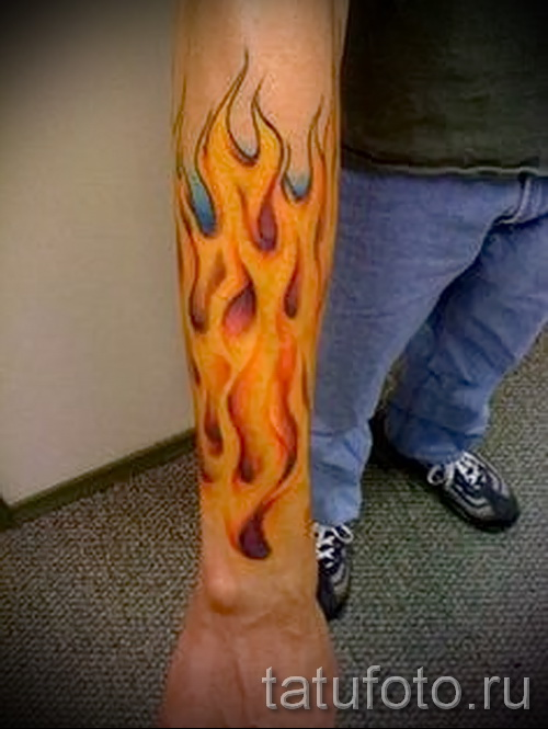 тату узоры пламя - фото пример для выбора от 28022016 23