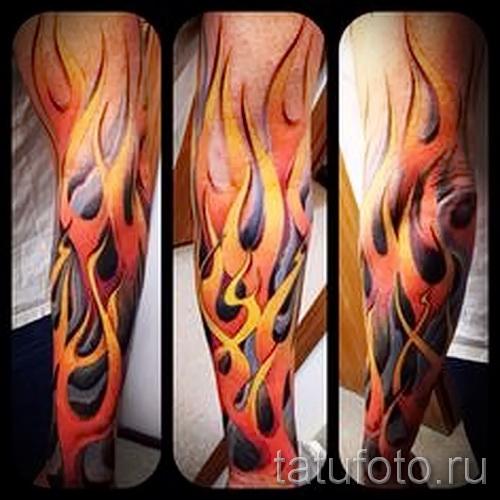 тату узоры пламя - фото пример для выбора от 28022016 9