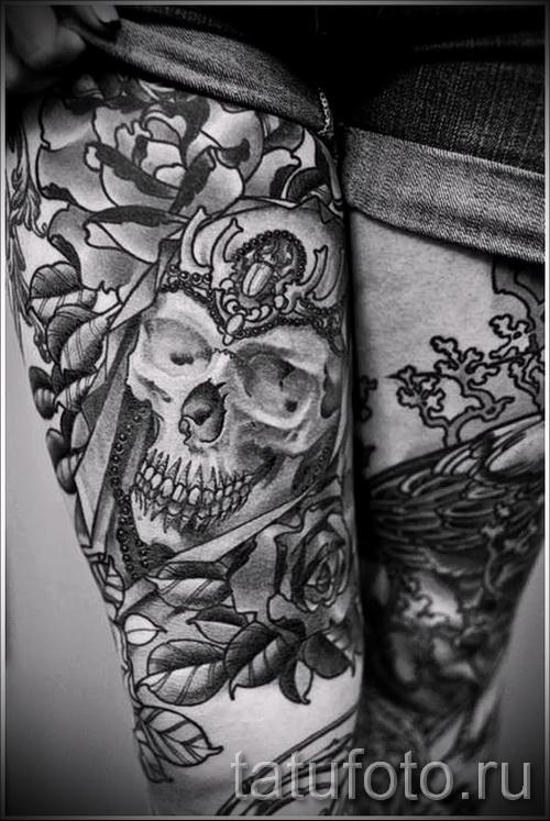 тату узор на бедре - примеры готовых тату в фотографиях 01022016 4