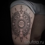 тату узор на бедре - примеры готовых тату в фотографиях 01022016 7