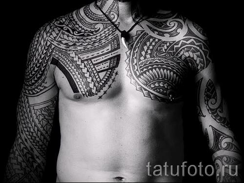 тату узор на грудь - фото пример для выбора от 28022016 11