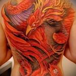 тату феникса на спине фото - фото готовой татуировки от 11022016 2