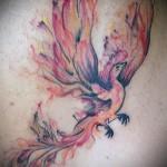 тату феникс акварель - фото готовой татуировки от 11022016 1