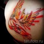 тату феникс акварель - фото готовой татуировки от 11022016 10