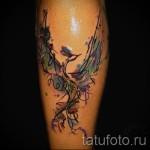 тату феникс акварель - фото готовой татуировки от 11022016 11