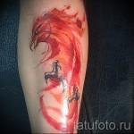 тату феникс акварель - фото готовой татуировки от 11022016 13