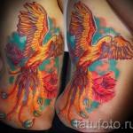 тату феникс акварель - фото готовой татуировки от 11022016 15