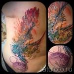 тату феникс акварель - фото готовой татуировки от 11022016 4