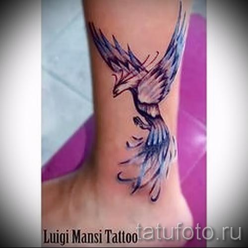 тату феникс акварель - фото готовой татуировки от 11022016 54