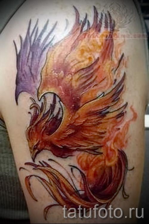 тату феникс акварель - фото готовой татуировки от 11022016 7