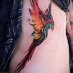 тату феникс акварель - фото готовой татуировки от 11022016 8