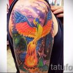тату феникс в огне - фото готовой татуировки от 11022016 1