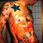 тату феникс в огне - фото готовой татуировки от 11022016 2
