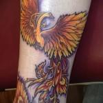 тату феникс геометрия - фото готовой татуировки от 11022016 1
