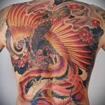 тату феникс и дракон - фото готовой татуировки от 11022016 4