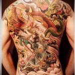 тату феникс и дракон - фото готовой татуировки от 11022016 5