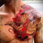 тату феникс мужская - фото готовой татуировки от 11022016 1