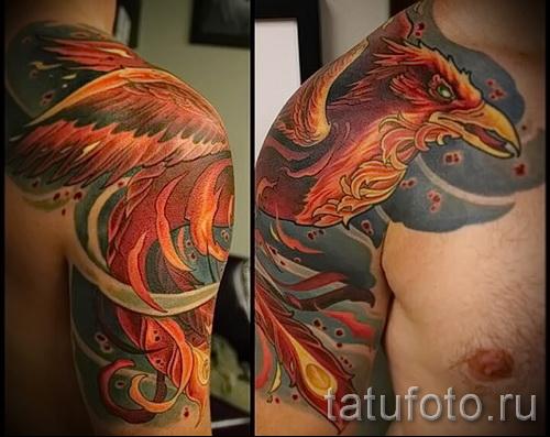 тату феникс мужская - фото готовой татуировки от 11022016 4