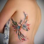 тату феникс на боку - фото готовой татуировки от 11022016 6