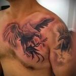 тату феникс на груди - фото готовой татуировки от 11022016 12