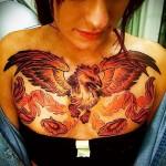 тату феникс на груди - фото готовой татуировки от 11022016 15