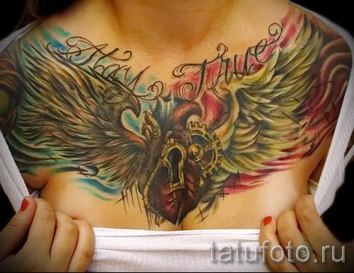 тату феникс на груди - фото готовой татуировки от 11022016 2