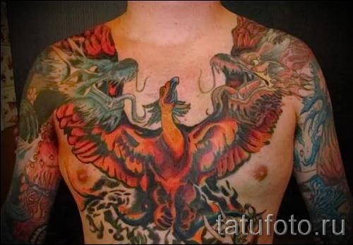 тату феникс на груди - фото готовой татуировки от 11022016 4