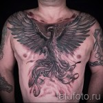 тату феникс на груди - фото готовой татуировки от 11022016 6