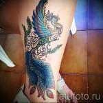 тату феникс на ноге - фото готовой татуировки от 11022016 3