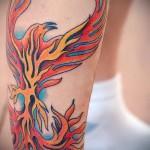 тату феникс на ноге - фото готовой татуировки от 11022016 8