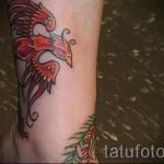 тату феникс на ноге - фото готовой татуировки от 11022016 9
